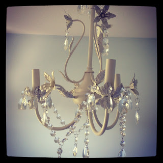 Abby's Room…Chandelier and Nightstand