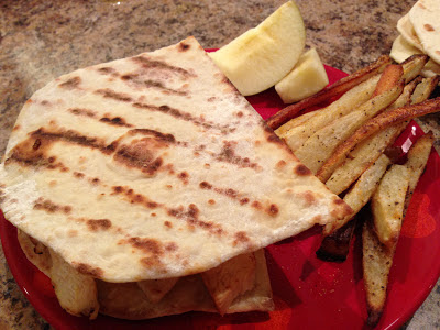 Flatbread Sandwiches and Crispy Fries