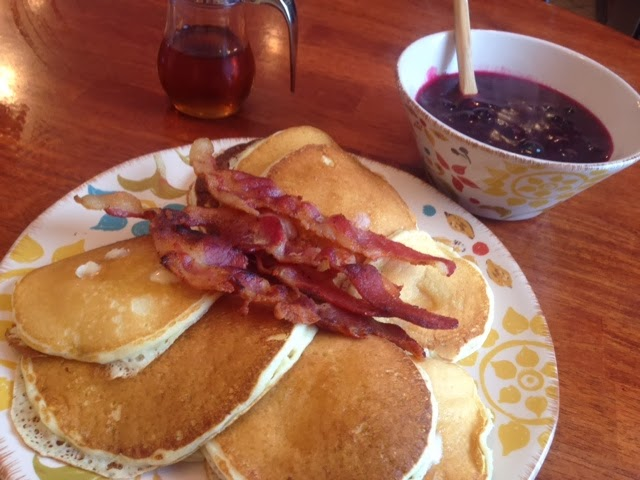 Restaurant Style Pancakes (with optional blueberry glaze)